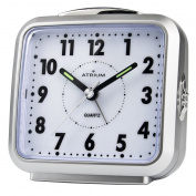 Atrium Design Silver Analogue Alarm with Light and Snooze A250 - 19