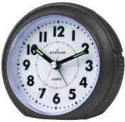 Atrium Alarm Clock Analogue Black Without Ticking, With Light & Snooze A240 7