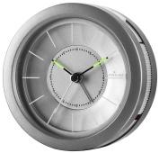 Atrium Design Round Analogue Alarm Clock No Ticking, With Light And Snooze A106 Grey - 4