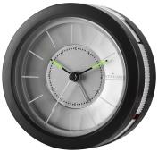 Atrium Analogue Alarm Clock Round Black No Ticking, With Light & Snooze A106 7