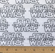 """1 Yard - Star Wars """"The Force Awakens"""" logo Flannel Fabric - Officially Licenced (Great for Quilting, Throws, Sewing, Craft Projects, Blankets, and More) 1 Yard x 110cm"""
