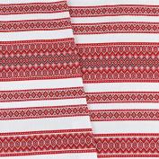 "Decorative fabric with Ukrainian ornament Christmas Tamlecloth interior ethnic white red black 100x150 cm / 40""x59"""