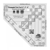 Creative Grids Non-Slip Pineapple Trim Tool Mini Quilt Ruler