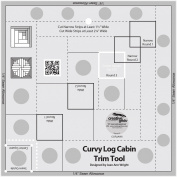 Creative Grids Curvy Log Cabin Trim Tool for 20cm Blocks