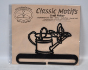 Classic Motifs 15cm Watering Can Charcoal Craft Holder