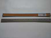 2PC 46cm Stainless Steel Ruler With Cork Backing, Assorted Colour