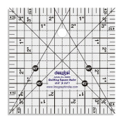 Square Shape Quilt Designing and Crafting Quilting Ruler Template 8.9cm x 8.9cm by LINOGRAPH