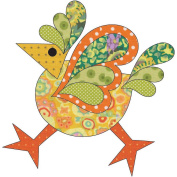 Urban Elementz Fusible Applique-Funky Chicken - Dotz #2 Large