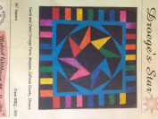 Droege's Star Quilt pattern 70cm square