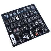 Sewing Machine Presser Feet Set 42 Pcs for Brother, Babylock, Singer, Janome, Elna, Toyota, New Home, Simplicity, Necchi, Kenmore, and White Low Shank Sewing Machines