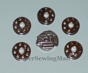 1 SINGER Bobbin Case +5 Featherweight Sewing Machine bobbin 221 222 301 # 45751