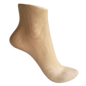 Kukin Wooden foot model, High heel shoes and socks display props (1 Pair)