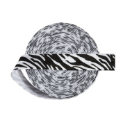 DIY PARK 5 Yard 1.6cm Zebra Stripe Print Fold Over Elastic Spandex Satin Band Baby Headband Hair Tie Sewing Trim Craft