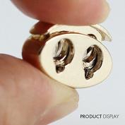 20pcs Gold Tone Metal Stopper Spring Toggle Buckle Cord Locks Claps Drawstring