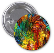 Abstract Art 2 PACK of 7.6cm Buttons Flare by Compass Litho