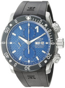 Edox Men's 'Chronoffshore-0.3m Swiss Automatic Stainless Steel and Rubber Diving Watch, Colour:Black (Model