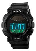 Gosasa Brand Multifunctional Solar Outdoor Watch Watched Sport Watches Men Waterproof Led Digital-Watch Black