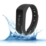 Fitness Trackers,Teslasz I5 plus IP65 Water-resistant Pedometer Bluetooth 4.0 Sleep Monitor Activity Tracker for Android and IOS Smart Phone