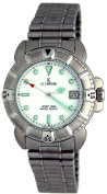 Le Chateau #2150M_WHITE Men's Sport Watch Stainless Steel Band