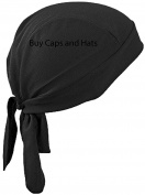 Black Bandana Wrap Soft Chemo Scarf Do Rag Buy Caps and Hats