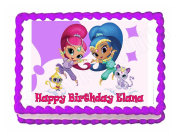Shimmer and Shine party edible cake image cake topper frosting sheet Best Selling Prod