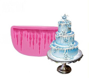 DIY 3D Cold Ice Shape Silicone Mould Fondant Cake Mould Decorating Bakeware Christmas cake decoration by Palker sky