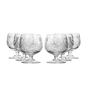 Set of 6 Neman Glassworks, 300ml Hand Made Vintage Russian Crystal Glasses, Brandy Cognac Snifters, Old-fashioned Glassware