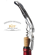 ACE Wine Key - Made To Seduce The Sommeliers. With Black Ebony Wood And Mirror Finish, The All-In-1 Double Hinge Lever Corkscrew Rises Above Other Waiter's Friend, Wine Knife Or Wine Opener