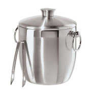 Oggi Ice Bucket with Tongs, 3 L Stainless Steel Silver
