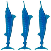 Royer 15cm Plastic Marlin, Swordfish, Tropical Swizzle Sticks, Drink Stirrers, Transparent Blue, 24 ct. - Made in the USA