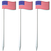 Royer 11cm American Flag Cocktail & Sandwich Picks/Skewers, Set of 24 - Made In USA