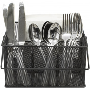 Sorbus Utensil Caddy — Silverware, Napkin Holder, and Condiment Organiser — Multi-Purpose Steel Mesh Caddy—Ideal for Kitchen, Dining, Entertaining, Tailgating, Picnics, and much more