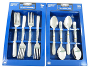 Daily Chef Dinner Forks and Spoons Flatware - 72 Pieces Windsor Pattern