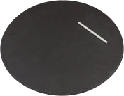 Round Slate Cheese Board and Serving Tray with Slate Chalk by Trademark Innovations