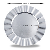 Fantastic:)™ Round 33cm x 33cm Charger Plates with Eletroplating Finish