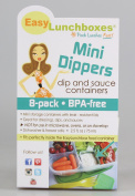 EasyLunchboxes BPA-Free, small containers Mini Dippers Small Dip, Condiment, or Sauce Containers food container, Set of 8