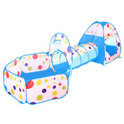 BATTOP Kids Play Tent Tunnel Set 3 in 1 Ball Pit Tent Indoor and Outdoor With Zippered Storage Bag