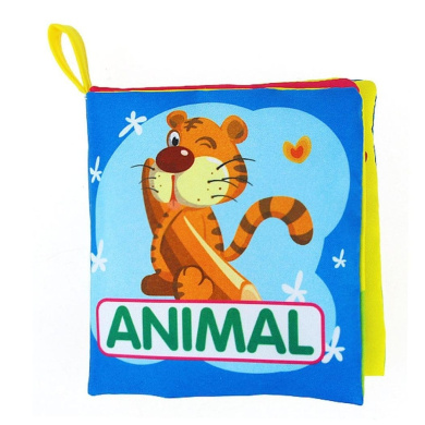 Usstore 1PC Kid Children Soft Cloth Baby Intelligence Development Learn Picture Cognize Book