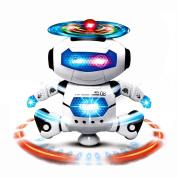 Leegor Christmas Gift Electronic Walking Dancing Smart Space Robot Astronaut Kids Music Light Toys
