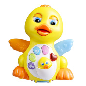 Coolecool Cute EQ Flapping Duck Baby Toy  .   Music Light Up Educational Electronic Toys for Toddlers