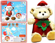 Christmas Bear Make Your Own Santa Teddy Bear Craft Sewing Toy Kit Gift R01-0134 Ages 5 years+