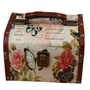 A.B Crew Wooden Jewellery Keepsake Gift Storage Box With Union Jack Or Butterfly Design