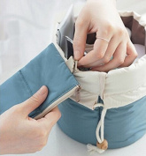 Zorvo Women Lady Pouch Bucket Barrel Shaped Cosmetic Makeup Bag Set Travel Case Purse