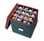 Primode Holiday Ornament Storage Chest, With 4 Trays Holds Up to 64 Ornaments Balls, With Dividers