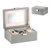 Vlando Exquisite Leather Jewellery box, Fabulous Girls Christmas Gift