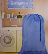 Large 80cm X 100cm Heavy Duty Nylon Laundry Bag with Drawstring Slip Lock Closure, SET OF 2! Assorted Colours and Designs