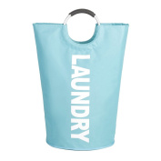 Laundry Bag Sunsbell Collapsible Handy Laundry Bins 94L Thicken Oxford Laundry Hamper with Alloy Handles