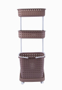 Laundry Sorters with Wheels Clothes Basket Organiser Movable
