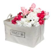 Cotton Fabric Collapsible Laundry Basket Dirty Clothes Hamper Closet Storage Bin Bag