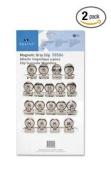 Sparco Bulldog Clip, Magnetic Back, Size 1, 3.2cm X 1cm Cap, 18/Box, Silver (SPR58506) 2-PACK